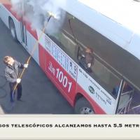 Lavado de Autobuses, Transporte Público a Vapor